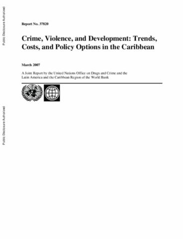 Crime violence and development trends costs and policy options crime violence and development trends costs and policy options in the caribbean publicscrutiny Gallery