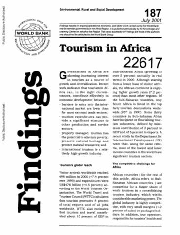 Tourism in africa harnessing tourism for growth and improved tourism in africa sciox Image collections
