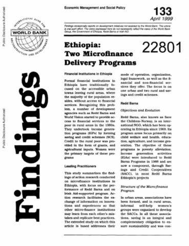 Gender Issues in Ethiopia : Implementing the National Policy on Women